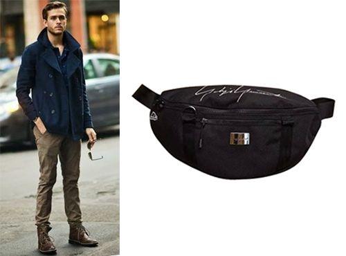 Мужская сумка на пояс Yohji Yamamoto из текстиля