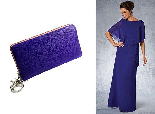 Клатч фиолетового цвета от Christian Dior для девушки