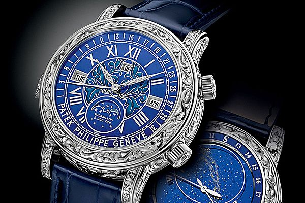 Наручные часы с лунным календарем от Patek Philippe