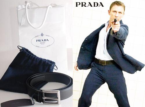 Кожаный ремень от Prada