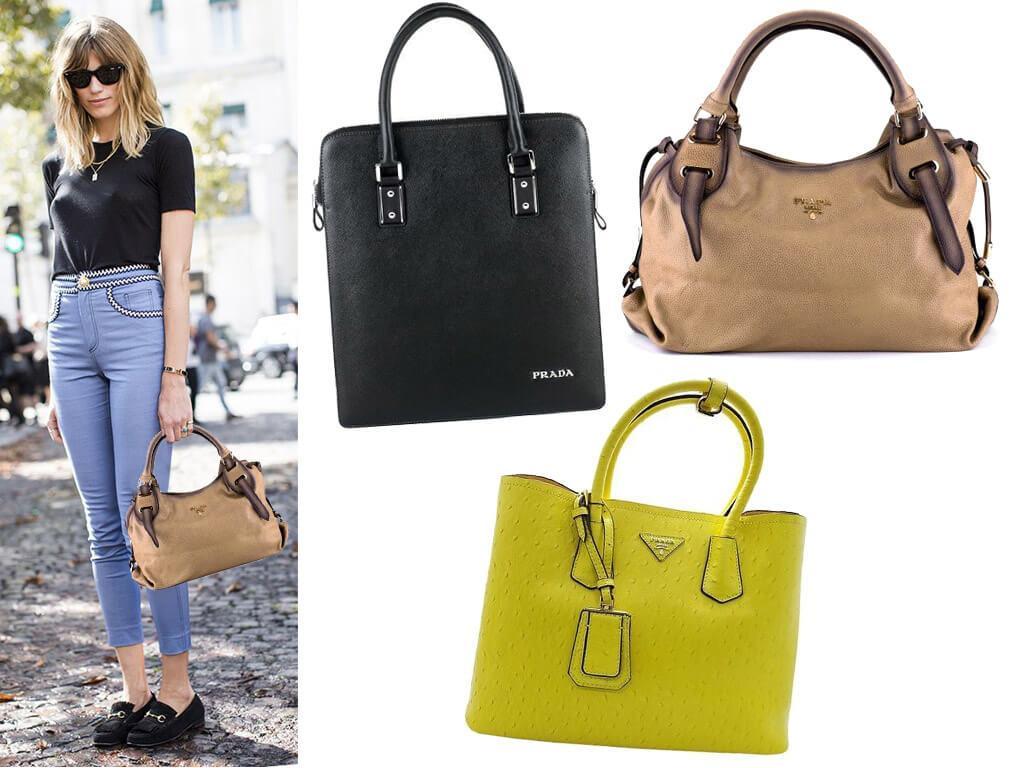 Женские сумки Прада из кожи