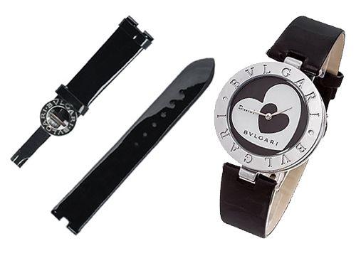 Ремень для часов Bvlgari черный