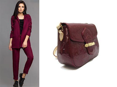 Сумка бордового цвета от Louis Vuitton женская