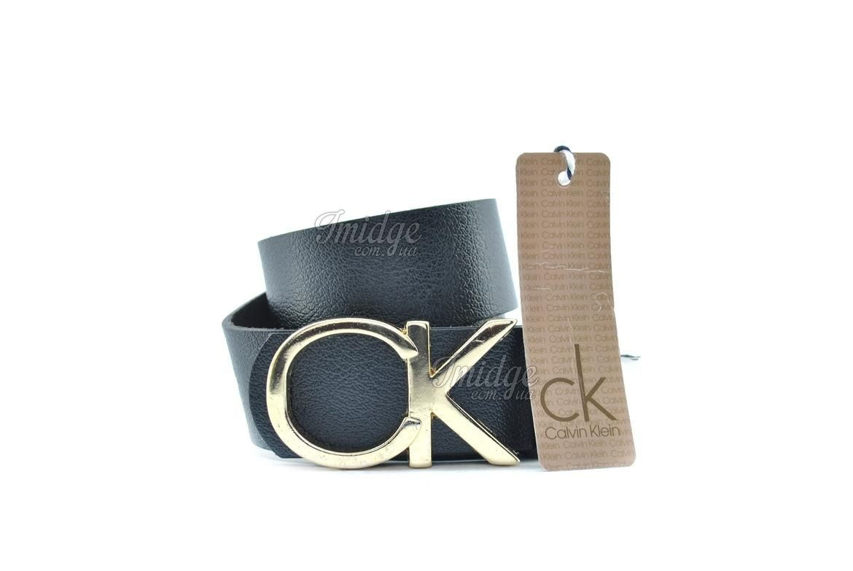Ремень  Calvin Klein Real золото Leather №B0218