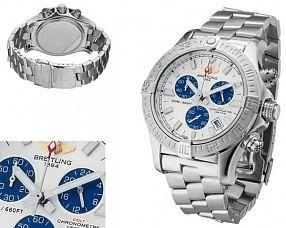 Мужские часы Breitling  №MX3674 (Референс оригинала A7380C1 Wh_Blue-SS)