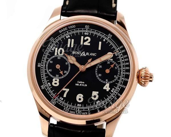 Часы Montblanc Villeret 1858 Chronograph Tachymeter Limited Edition