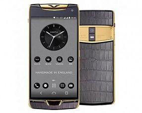 Смартфон Vertu Модель Constellation Х 2019 Gold Grey Alligator